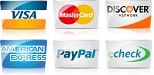 Payment Options the we Accept