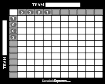 Baseball Squares Pool Scratch Off