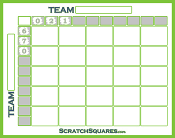 Scratch-Off 25 Square Super Bowl Grid
