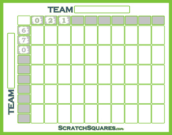 Scratch-Off 50 Square Footballl Grid