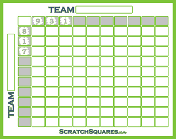 graphic regarding Super Bowl Grid Printable called Tremendous Bowl Sq. Pool Scratch-Off Sheets